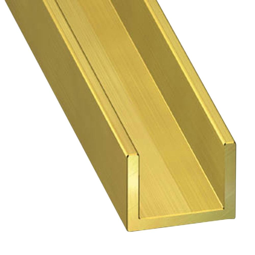 Perfil en u lat n oro ref 73990 leroy merlin for Perfil u aluminio leroy merlin