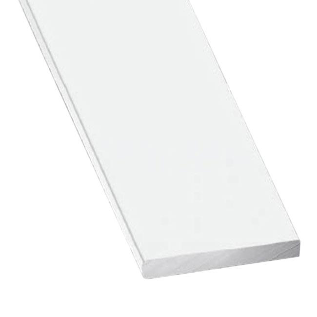 Perfil liso aluminio anodizado blanco ref 10209745 for Plancha aluminio leroy merlin