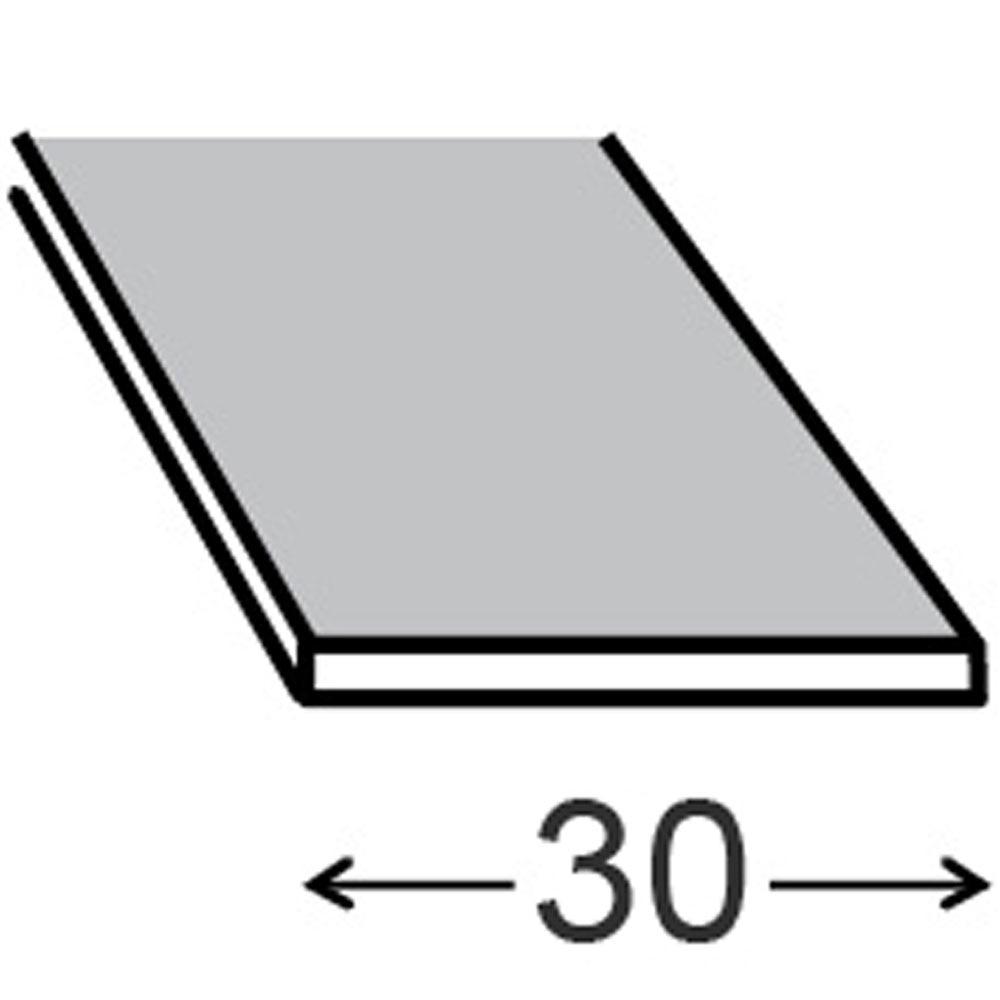 Perfil liso aluminio anodizado blanco ref 17073021 - Perfil aluminio anodizado ...