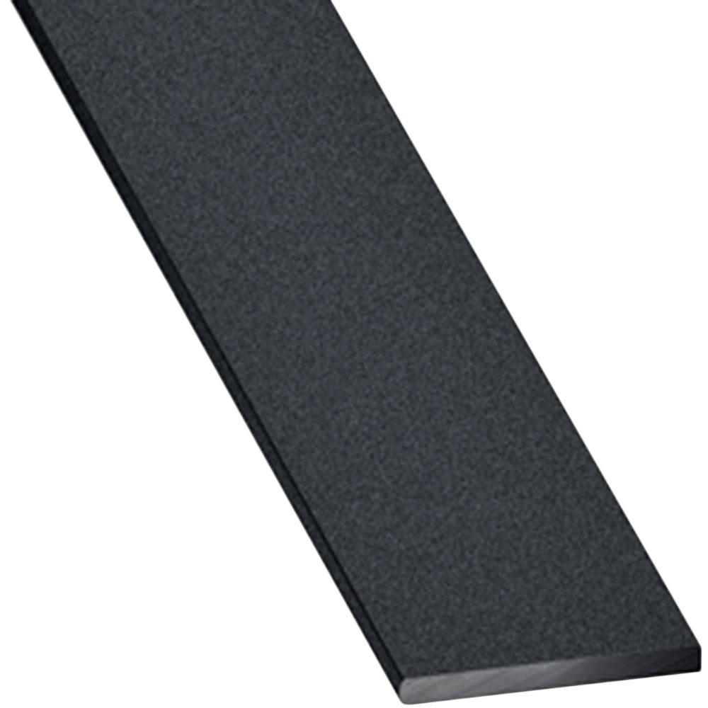 Perfil liso aluminio anodizado gris grafito ref 17701600 for Colores de perfiles de aluminio