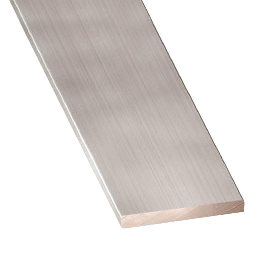 Perfil liso aluminio anodizado inox gris plata ref for Plancha aluminio leroy merlin