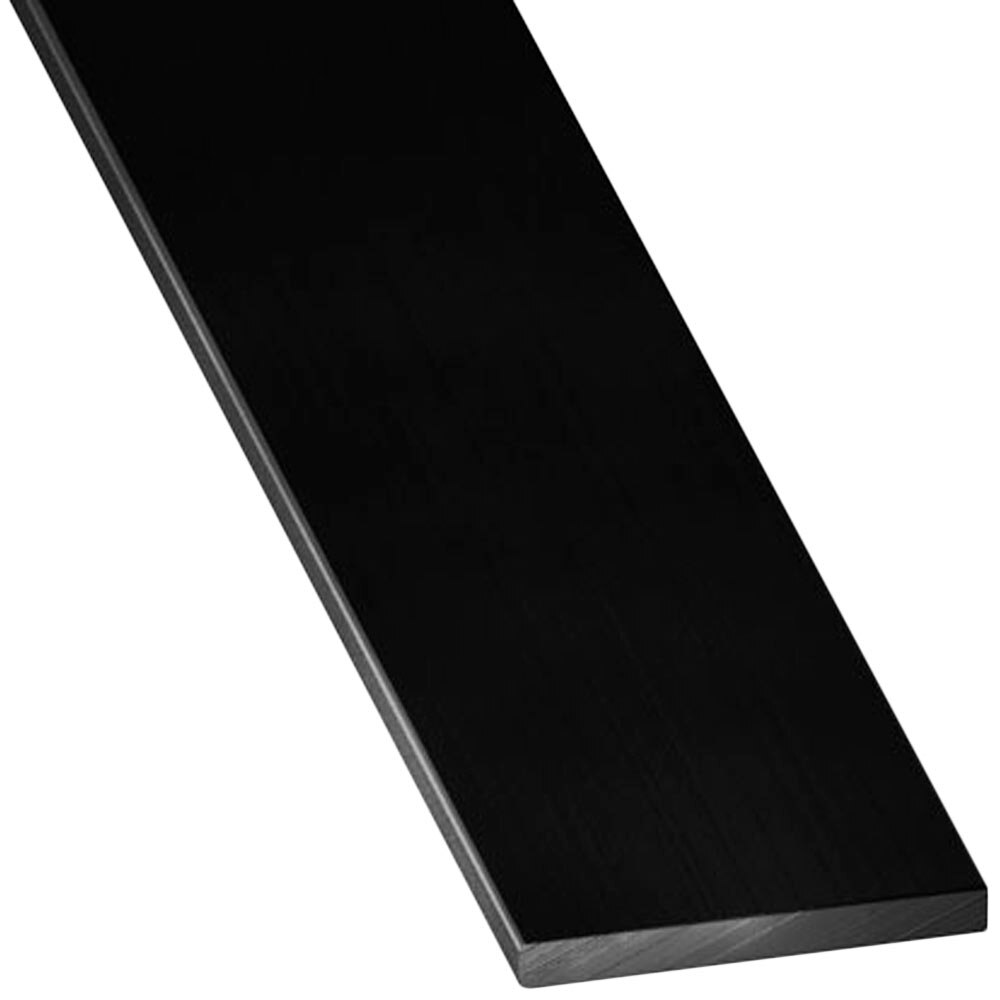 Perfil liso aluminio anodizado negro lacado ref 17701621 for Colores de perfiles de aluminio