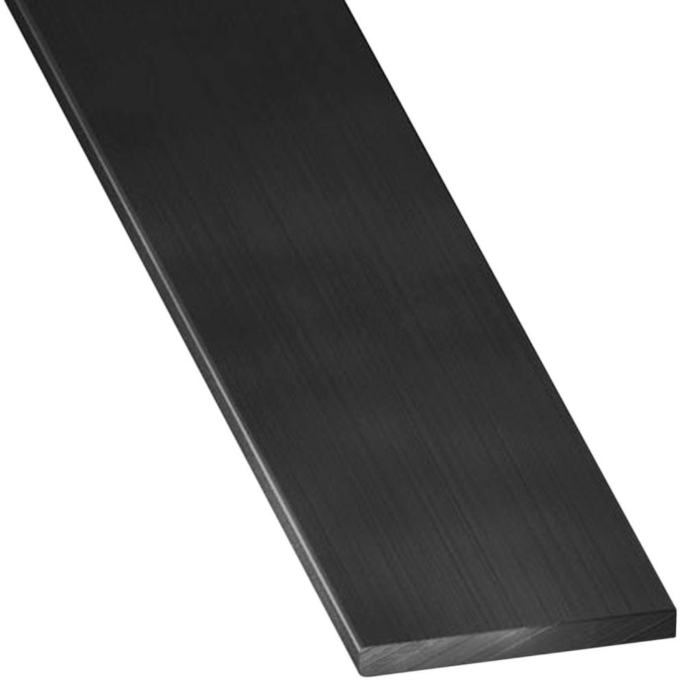 Perfil liso aluminio anodizado negro lijado ref 17073070 for Perfil u aluminio leroy merlin