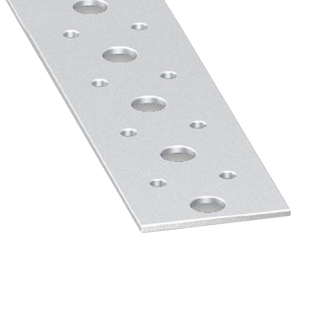 Perfil liso perforado acero fr o galvanizado gris ref for Perfil u aluminio leroy merlin