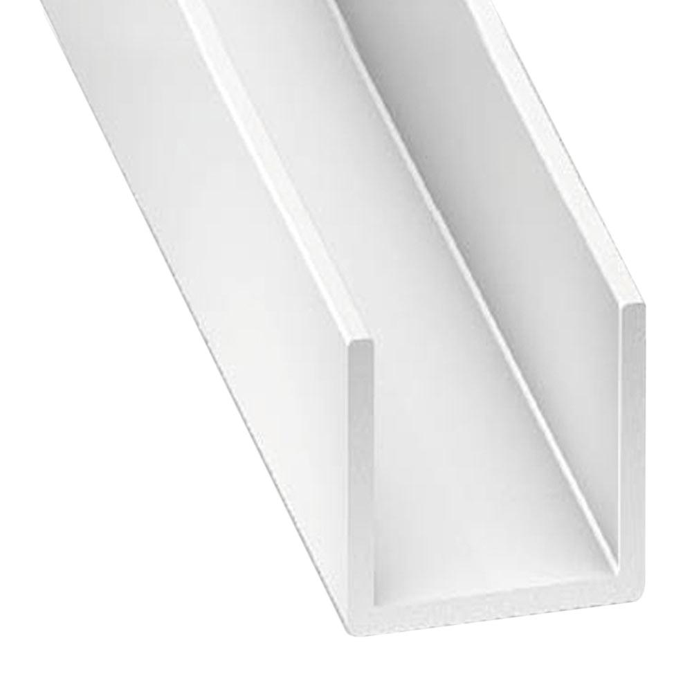 Perfil en u pvc blanco ref 10207162 leroy merlin for Perfil u aluminio leroy merlin