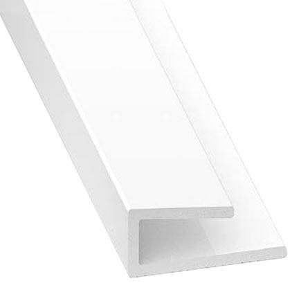 Perfil en u pvc blanco para paneles ref 735210 leroy merlin for Paneles leroy merlin