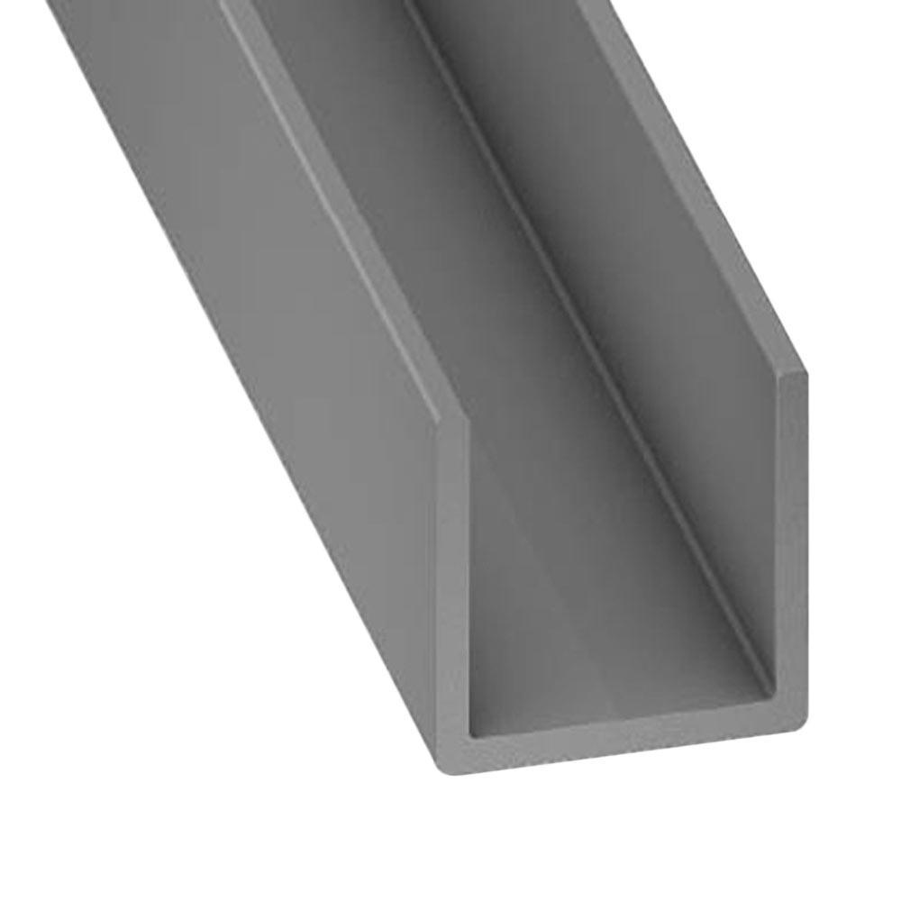 perfil en u pvc gris ref 12706540 leroy merlin. Black Bedroom Furniture Sets. Home Design Ideas