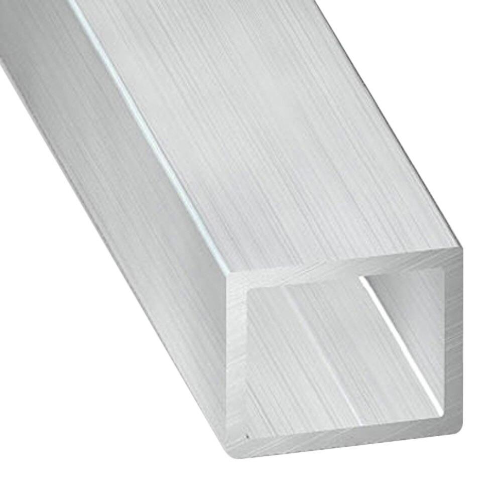 Tubo rectangular aluminio bruto gris plata ref 11434122 for Tubo irrigazione leroy merlin