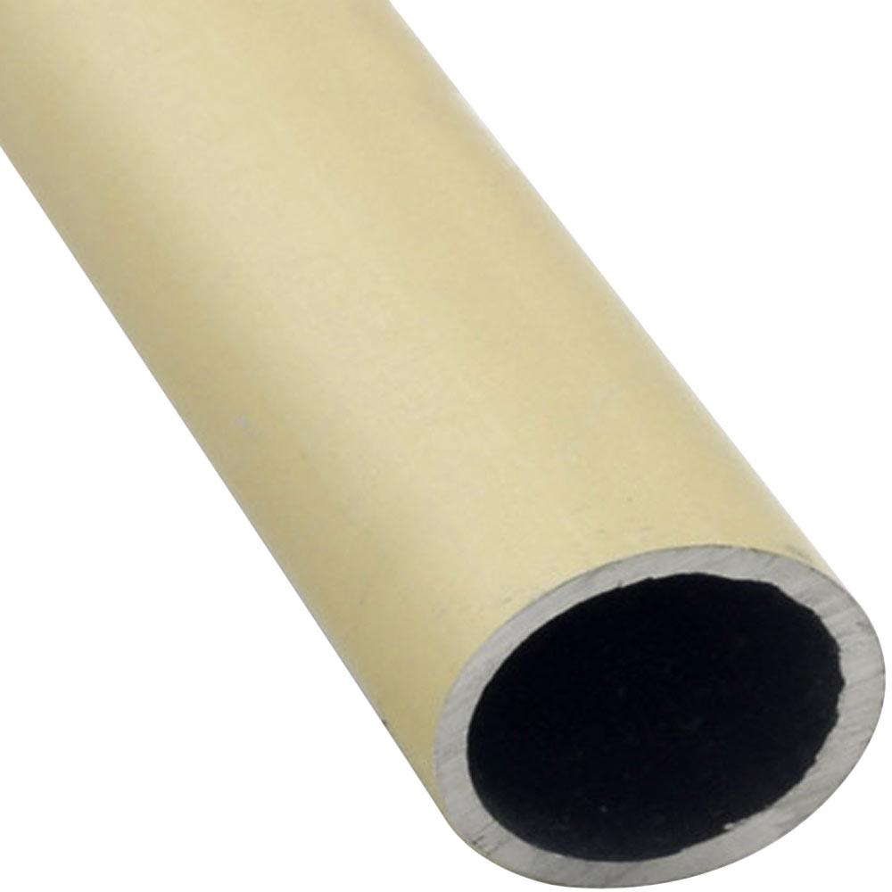 Tubo redondo aluminio anodizado oro ref 633353 leroy merlin for Tubo irrigazione leroy merlin