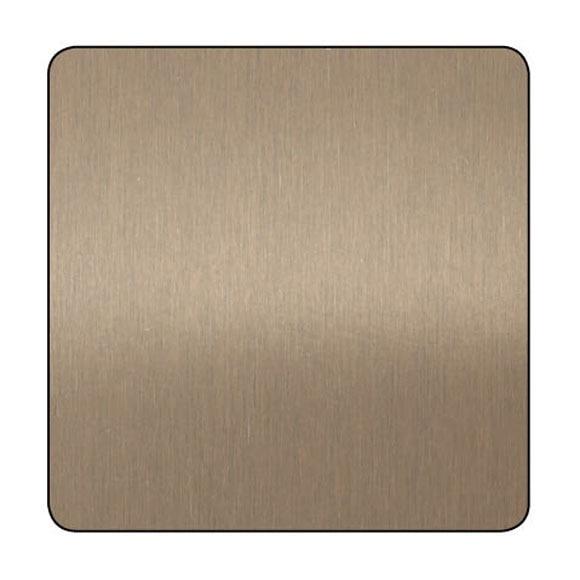 Chapa de aluminio anodizado cobre lijado ref 13850053 - Chapa aluminio leroy merlin ...