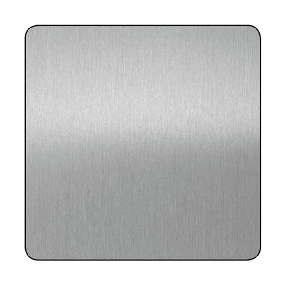 Chapa de aluminio anodizado plata lijado ref 13850095 for Plancha aluminio leroy merlin