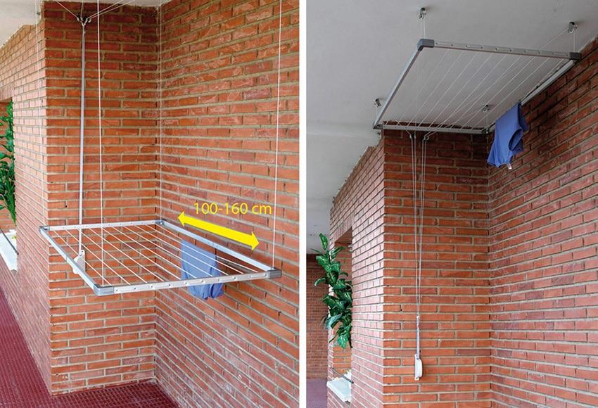 C mo instalar un tendedero de balc n comunidad leroy - Tendederos de balcon ...