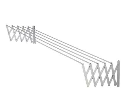 Tendedero de pared acorde n aluminio ac 180 cm ref for Tendedero pared ikea