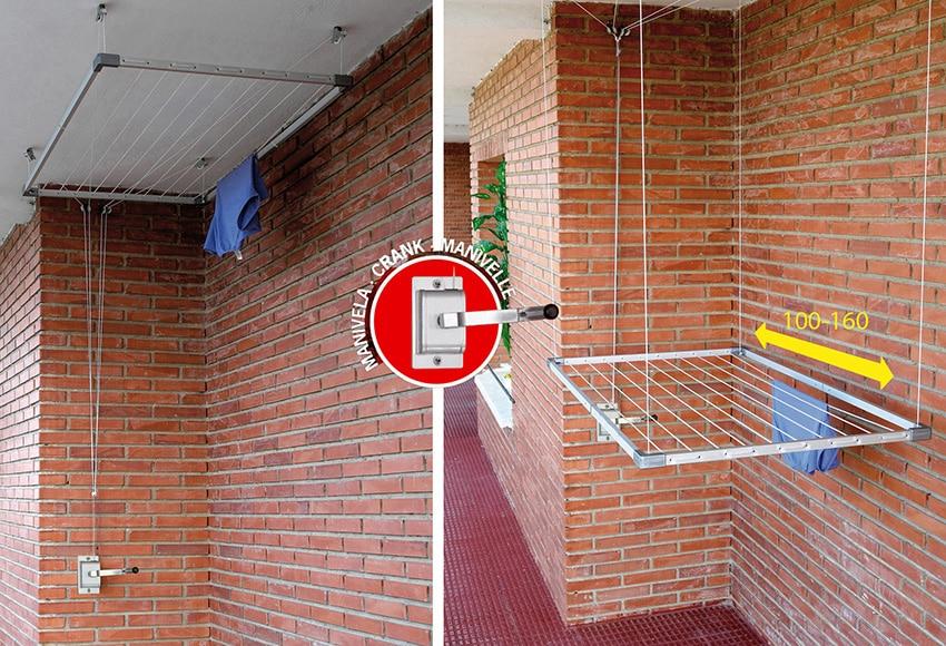 Tendedero de techo cuncial tezno techo alu ext manivela - Leroy merlin murcia ventiladores de techo ...