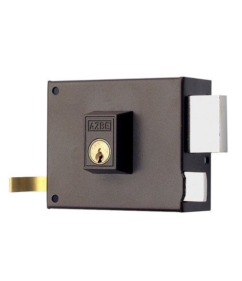 Cerradura para puerta de madera azbe 125 marron ref - Leroy merlin cerraduras ...