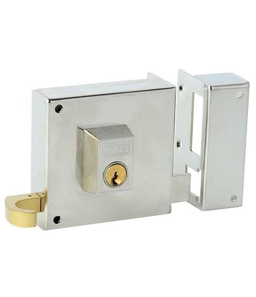 Cerradura para puerta de madera azbe 125 niquelado ref - Leroy merlin cerraduras ...