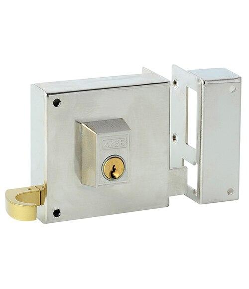 Cerradura para puerta de madera azbe 125 niquelado ref - Cerraduras puertas madera ...