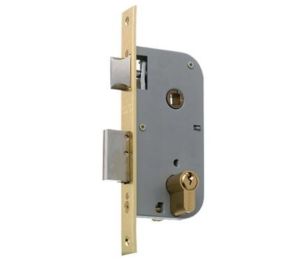 Cerradura para puerta de madera mcm 1301 latonado ref 11152624 leroy merlin - Cerradura de puerta de madera ...