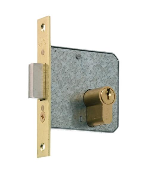 Cerradura para puerta de madera mcm 1512 latonado ref - Leroy merlin cerraduras ...