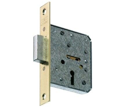 Cerradura para puerta de madera mcm 1513 latonado ref 10384465 leroy merlin - Cerradura de puerta de madera ...