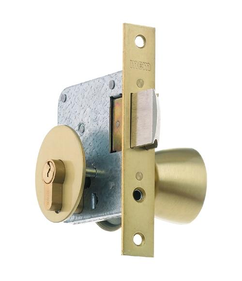 Cerradura para puerta de madera mcm 1561 latonado ref 10384612 leroy merlin - Cerradura de puerta de madera ...