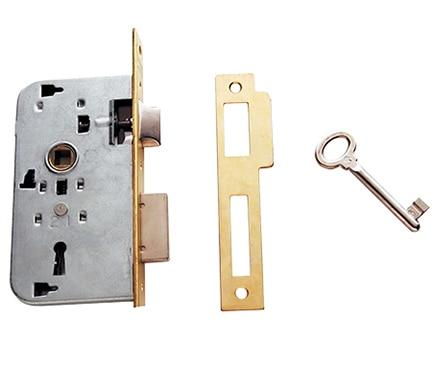 Cerradura para puerta de madera tesa 2000 2002 latonado ref 15778154 leroy merlin - Cerradura de puerta de madera ...