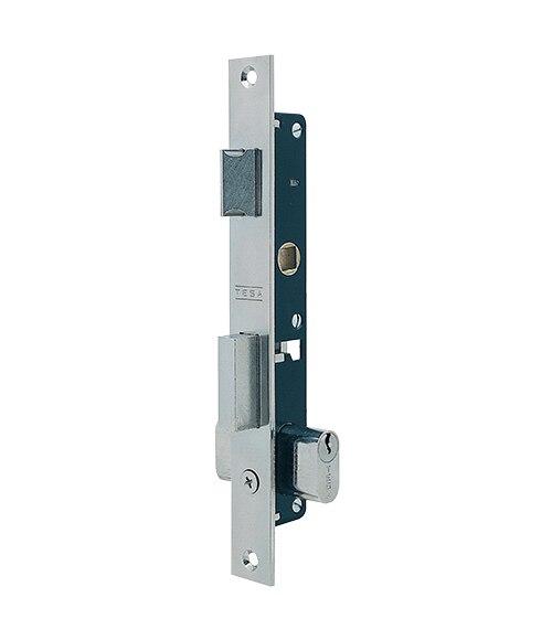 Cerradura para puerta de metal tesa 2220 inoxidable ref for Cerraduras tesa leroy merlin