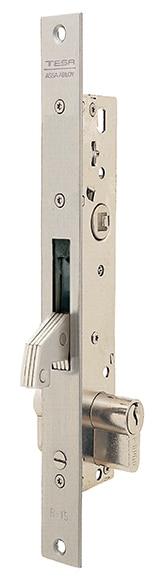 Cerradura para puerta de metal tesa 2240 2241b inoxidable for Cerraduras tesa leroy merlin