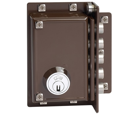 Cerradura para puerta de madera jis 5239 marron ref - Cerraduras puertas madera ...
