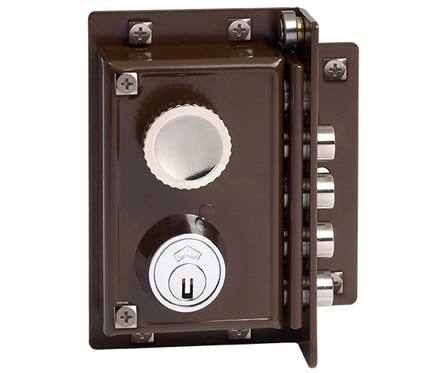 Cerradura para puerta de madera jis 5240 marron ref 663341 leroy merlin - Cerradura de puerta de madera ...