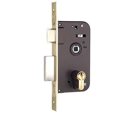 Cerradura para puerta de madera azbe 600 niquelado ref - Cerraduras puertas madera ...