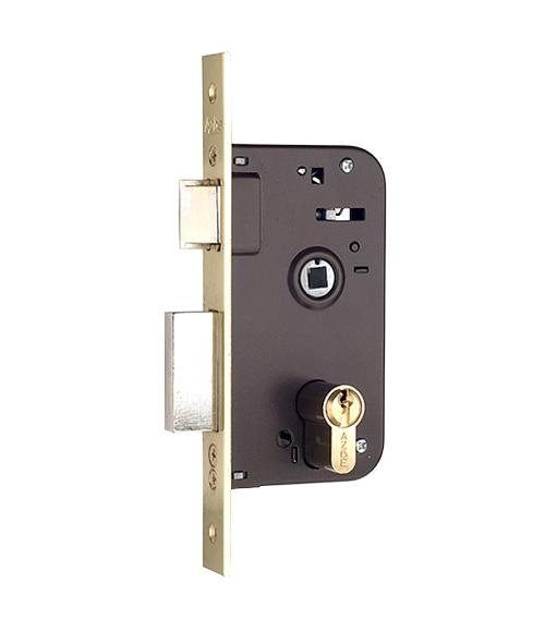 Cerradura para puerta de madera azbe 600 niquelado ref - Leroy merlin cerraduras ...