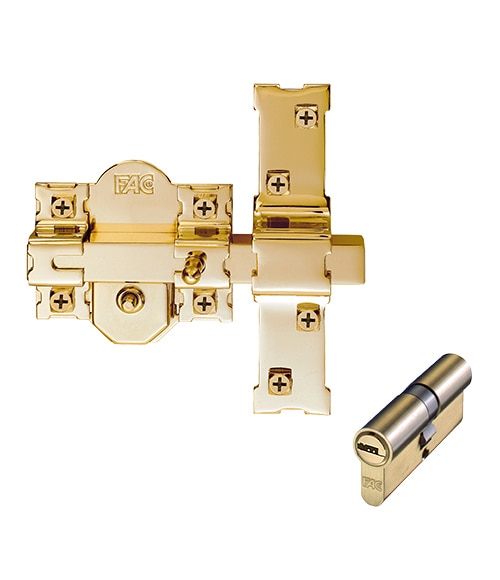 Accesorios De Cerradura Fac Rp 80 Dorado Ref 14582946 Leroy Merlin