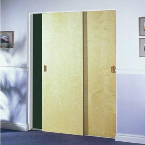 Puertas correderas con guia exterior marco minimal v - Puertas correderas sin marco ...