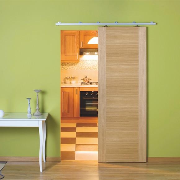 Gu a para puerta corredera de madera gu a manta ref - Kit para puerta corredera ...