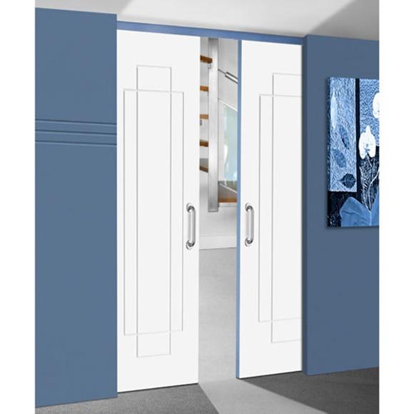 Gu a encastrable para puerta corredera puerta doble 60 60 ref 14611226 leroy merlin - Puerta corredera doble ...