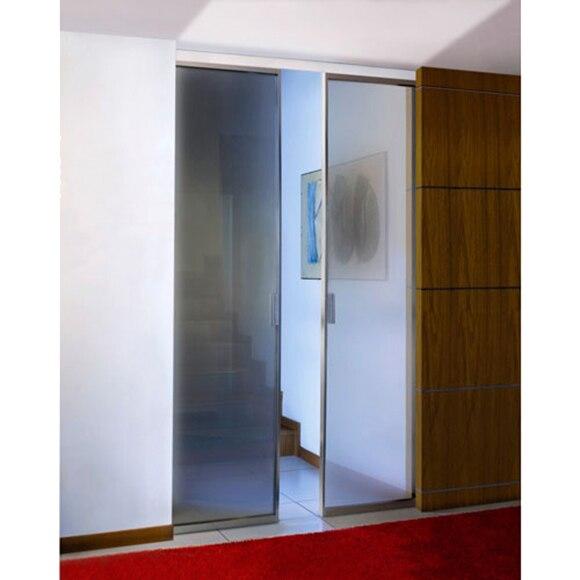 Gu a encastrable para puerta corredera puerta doble 70 70 - Puerta corredera doble ...