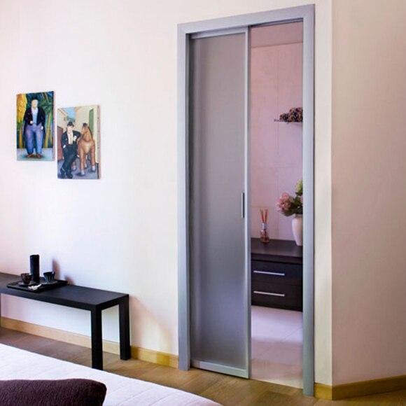 Gu a encastrable para puerta corredera puerta simple 70 for Guia puerta corredera