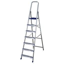 Escalera De Tijera Dom Stica Altipesa Aluminio 7p Ref