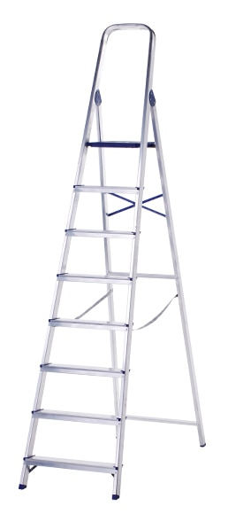 Escalera De Tijera Dom Stica Altipesa Aluminio 8p Ref