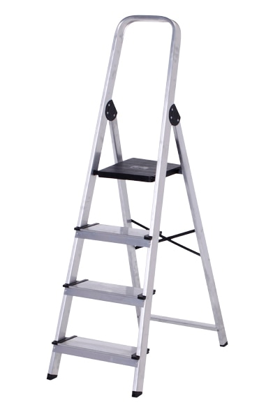 Escalera De Tijera Dom Stica Altipesa Aluminio 4p Anchos