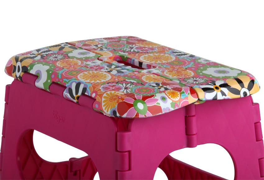 Mini taburete pl stico plegable vigar citric 32cm ref - Taburete plegable leroy merlin ...