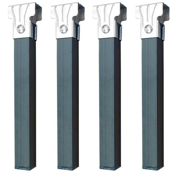 Juego de 4 patas de hierro cuadradas SOMIER HIERRO Ref. 12339390