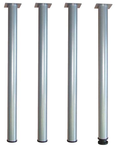 Juego de 4 patas de acero redondas h700 d50 ref 13521620 for Mesas abatibles de pared leroy merlin