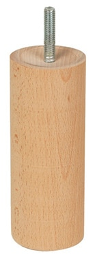 Pata de madera redonda H150 D58