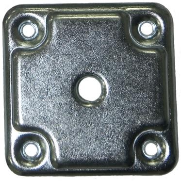 2 placas de hierro CUADRADO M10