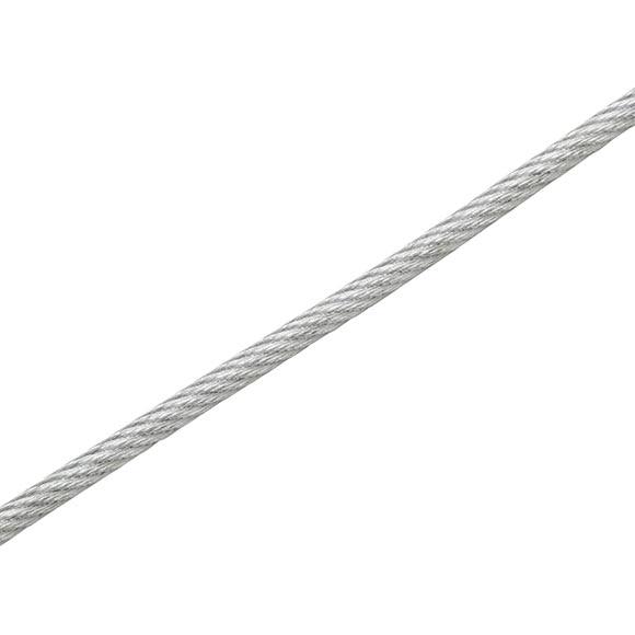 Cable de acero galvanizado forrado ref 18608191 leroy for Casetas de acero galvanizado