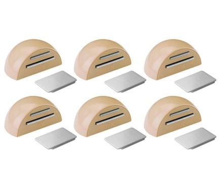 6 retenedores adhesivos beige tope magn tico 2034 ref for Iman adhesivo leroy merlin