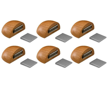 6 retenedores adhesivos roble tope magn tico 2036 ref for Iman adhesivo leroy merlin