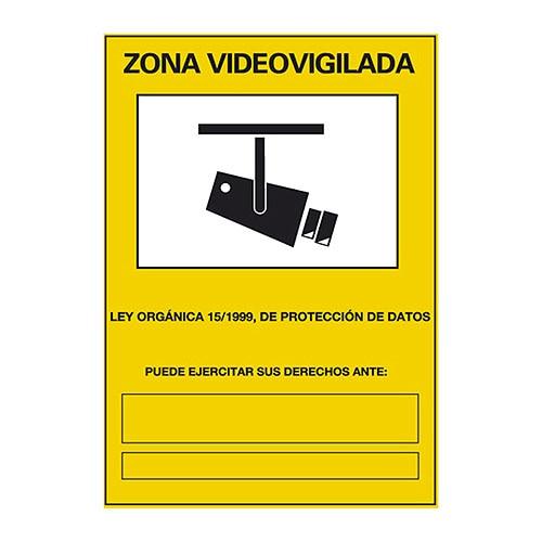 Cartel zona videovigilada ref 14816473 leroy merlin - Cartel de videovigilancia ...